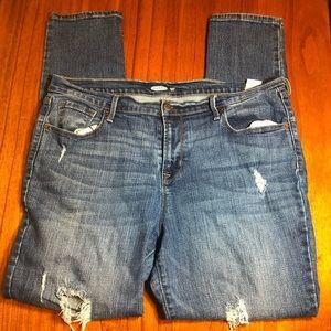 Old Navy distressed curvy skinny jeans